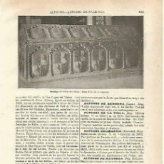Coleccionismo: LAMINA ESPASA 33752: SARCOFAGO DEL INFANTE ALFONSO DE CASTILLA. Lote 180146331