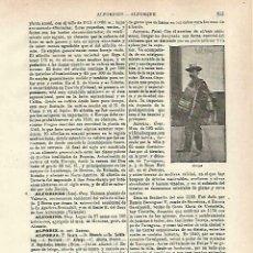 Coleccionismo: LAMINA ESPASA 33753: ALFORJAS. Lote 180146347