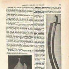 Coleccionismo: LAMINA ESPASA 33765: CASCOY CIMITARRA DE ALI BAJA. Lote 180146505