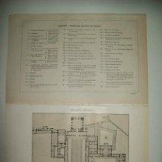 Coleccionismo: LAMINA ESPASA 33771: PLANO DEL ALCAZAR DE LA ALHAMBRA. Lote 180146591