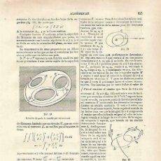 Coleccionismo: LAMINA ESPASA 33773: ALGEBRA. Lote 180146616