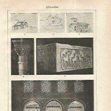 Coleccionismo: LAMINA ESPASA 33775: VISTAS DE LA ALHAMBRA. Lote 180146648