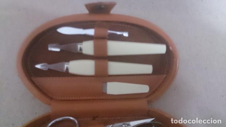 Coleccionismo: Estuche de manicura de cuero (Beter) 15x8x3 ctms 250gmos - Foto 7 - 180147180