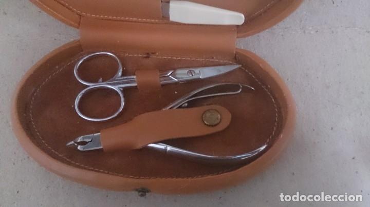 Coleccionismo: Estuche de manicura de cuero (Beter) 15x8x3 ctms 250gmos - Foto 8 - 180147180