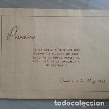 Coleccionismo: PROGRAMA DE ACTOS ROMERIA DE LA FONTCALDA(GANDESA) 1953 - Foto 2 - 180186968