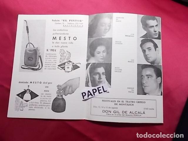Coleccionismo: PROGRAMA. FESTIVALES TEATRO GRIEGO DE MONTJUICH VERANO 1963. LA BRUJA. Mª DOLORES RIPOLES - Foto 2 - 180194073