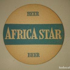 Coleccionismo: POSAVASOS AFRICA STAR BEER, LEER DESCRIPCION. Lote 180216076