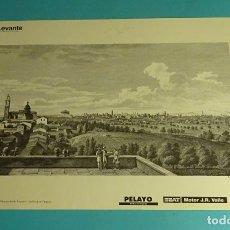 Coleccionismo: LÁMINA VISTA GENERAL DE VALENCIA DESDE BURJASOT. GRABADO DE LABORDE. EL REINO DE VALENCIA. Lote 180259050