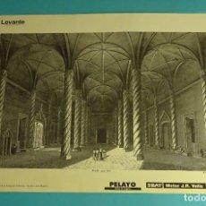 Coleccionismo: LÁMINA VISTA INTERIOR DE LA LONJA DE VALENCIA. GRABADO DE LABORDE. EL REINO DE VALENCIA. Lote 180260003