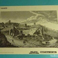 Coleccionismo: LÁMINA VISTA GENERAL DEL TEATRO DE SAGUNTO. GRABADO DE LABORDE. EL REINO DE VALENCIA. Lote 180260115