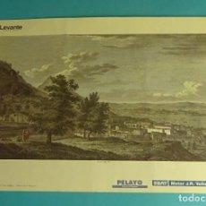 Coleccionismo: LÁMINA VISTA GENERAL DE SAN FELIPE. GRABADO DE LABORDE. EL REINO DE VALENCIA. Lote 180261346