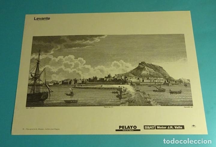 LÁMINA VISTA GENERAL DE ALICANTE. GRABADO DE LABORDE. EL REINO DE VALENCIA (Coleccionismo - Laminas, Programas y Otros Documentos)