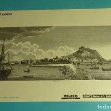 Coleccionismo: LÁMINA VISTA GENERAL DE ALICANTE. GRABADO DE LABORDE. EL REINO DE VALENCIA. Lote 180262146