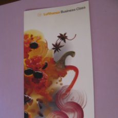 Coleccionismo: MENU DE LUFTHANSA. VUELO DELHI - FRANKFURT. 1995. 30X15 CM.. Lote 180283011