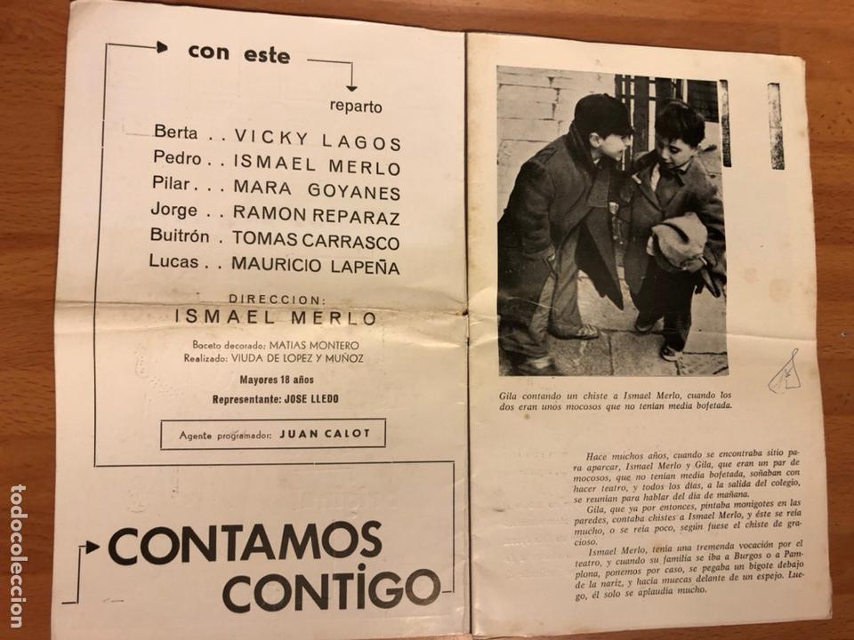 Coleccionismo: Programa teatro barcelona contamos contigo.ismael merlo vicky lagos gila - Foto 2 - 180289085
