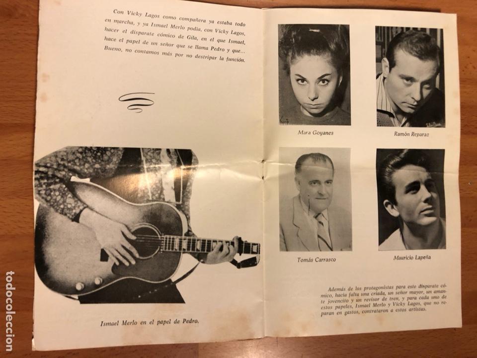 Coleccionismo: Programa teatro barcelona contamos contigo.ismael merlo vicky lagos gila - Foto 5 - 180289085
