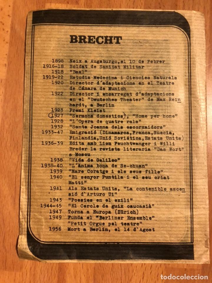 Coleccionismo: Programa teatro ars sermons domestics bertolt brecht.francesc tudo maría plans - Foto 3 - 180289320