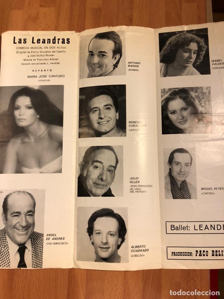 Coleccionismo: Programa teatro princesa valencia las Leandras.maria jose cantudo ángel de andres - Foto 3 - 180289390