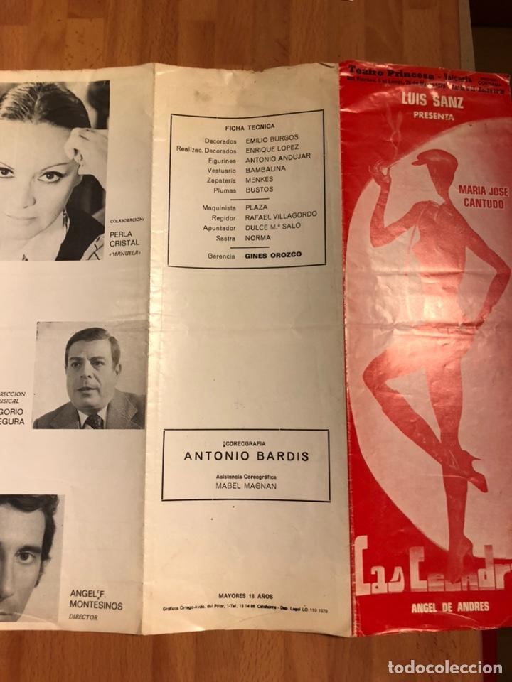 Coleccionismo: Programa teatro princesa valencia las Leandras.maria jose cantudo ángel de andres - Foto 4 - 180289390