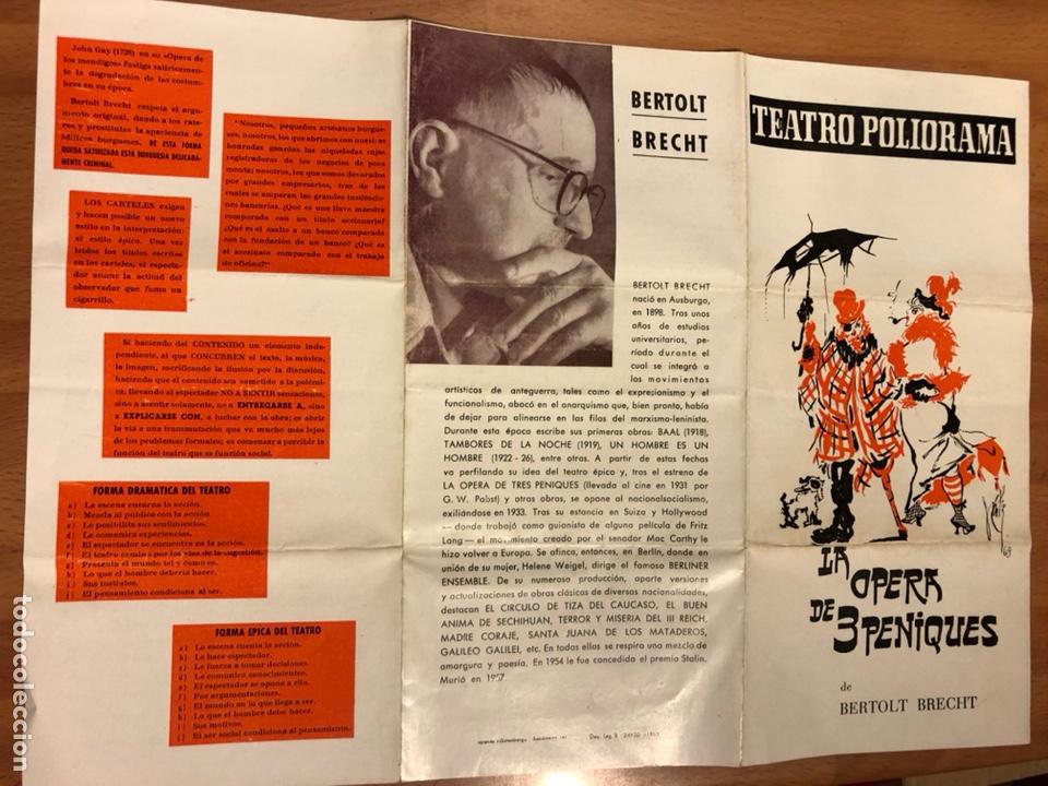 Coleccionismo: Programa teatro poliorama la opera de tres peniques bertolt brecht Carlos lemos amparo Soler leal - Foto 3 - 180289435