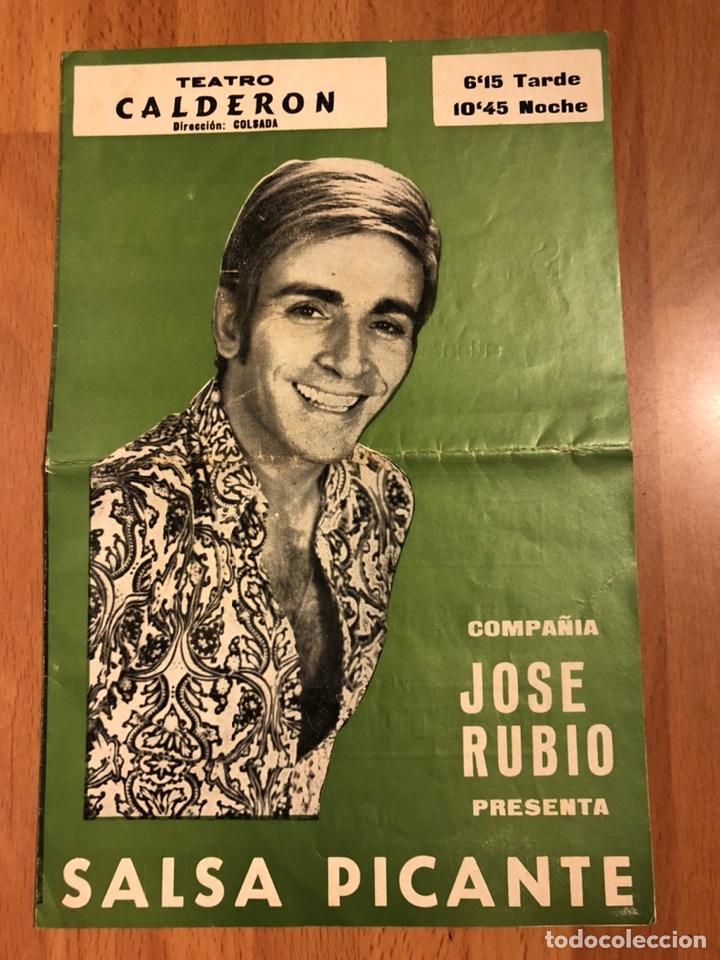 PROGRAMA TEATRO CALDERÓN SALSA PICANTE.JOSE RUBIO PACO MUÑOZ (Coleccionismo - Laminas, Programas y Otros Documentos)
