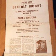 Coleccionismo: PROGRAMA TEATRO LARA LA RESISTIBLE ASCENSIÓN DE ARTURO UI.BERTOLT BRECHT.JULIETA SERRANO. Lote 180335175