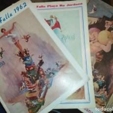 Coleccionismo: LOTE DE LLIBRET DE FALLA PLAZA NA JORDANA LIBROS DE FALLA PLAZA LA JORDANA 1962 1964 1967. Lote 180516370