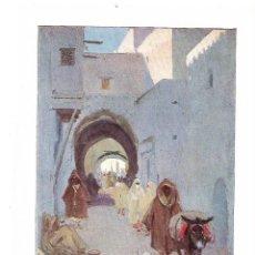 Coleccionismo: AÑO 1914 RECORTE PRENSA PINTURA LAMINA DIBUJO REPRODUCCION EL AIOUM TETUTAN POR MARIANO BERTUCHI. Lote 180516845