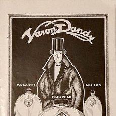 Coleccionismo: ANTIGUO ANUNCIO VARON DANDY AÑOS 20. Lote 180975912