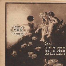Coleccionismo: AÑO 1924 RECORTE PRENSA PURGANTE YER PUBLICIDAD. Lote 181128631