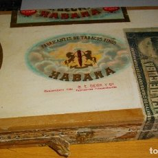 Coleccionismo: HUMIDOR -CAJA DE PUROS HABANOS - C. E . BECK Y CIA. (( VACIA/ COLECCN .)) PRE / EMBARGO . Lote 181185775