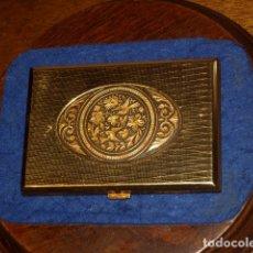 Coleccionismo: PITILLERA DAMASQUINADA,TOLEDO,AÑOS 60-70.. Lote 181211940