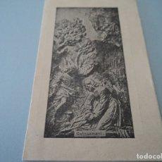 Coleccionismo: ORACION POR LOS MORIBUNDOS CON HOJA DE OLIVO DE GETHSEMANI. Lote 221865157