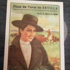 Coleccionismo: PROGRAMA FERIA DE ABRIL SEVILLA 1948. Lote 182026413
