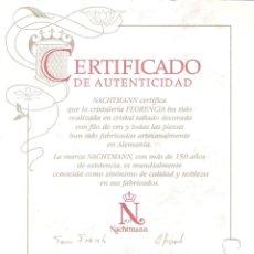 Coleccionismo: CERTIFICADO DE AUTENTICIDAD CRISTALERIA FLORENCIA. Lote 182226018