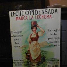 Coleccionismo: MODERNO CUADRO PUBLICIDAD LECHE CONDENSADA LA LECHERA. NESTLÉ. 60 X 90 CMS.. Lote 182619086