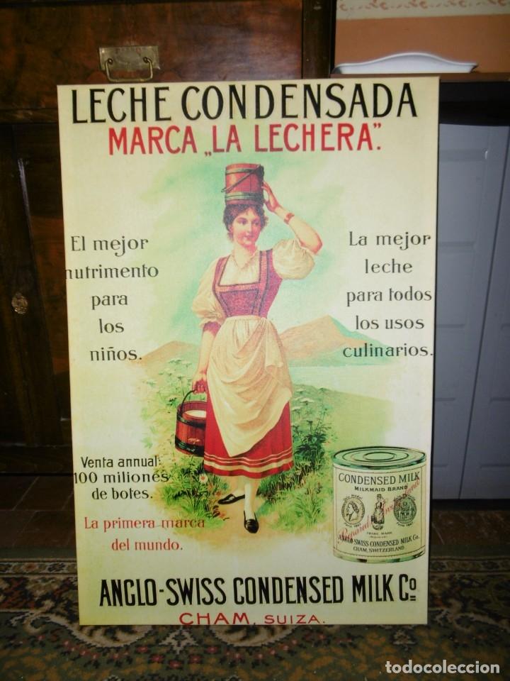 Coleccionismo: MODERNO CUADRO PUBLICIDAD LECHE CONDENSADA LA LECHERA. NESTLÉ. 60 X 90 CMS. - Foto 2 - 182619086