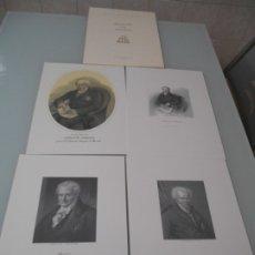 Coleccionismo: CARPETA CON 4 GRABADOS DE ALEJANDRO DE HUMBOLDT SE IMPRIMIERON 300 EJEMPLARE ÉSTE ES EL Nº 102. Lote 182630915