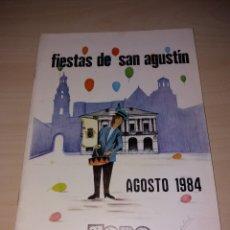 Coleccionismo: FERIAS Y FIESTAS DE SAN AGUSTÍN, TORO 1984. Lote 182645492