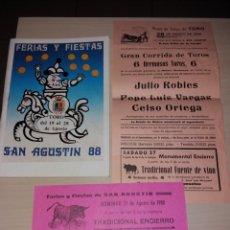Coleccionismo: FERIAS Y FIESTAS DE SAN AGUSTÍN, TORO 1988. Lote 182645656
