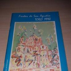 Coleccionismo: FERIAS Y FIESTAS DE SAN AGUSTÍN, TORO 1990. Lote 182646048