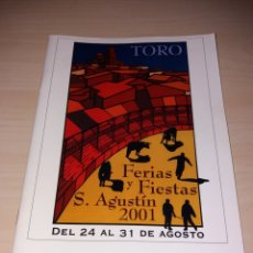 Coleccionismo: FERIAS Y FIESTAS DE SAN AGUSTÍN, TORO 2001. Lote 182646356