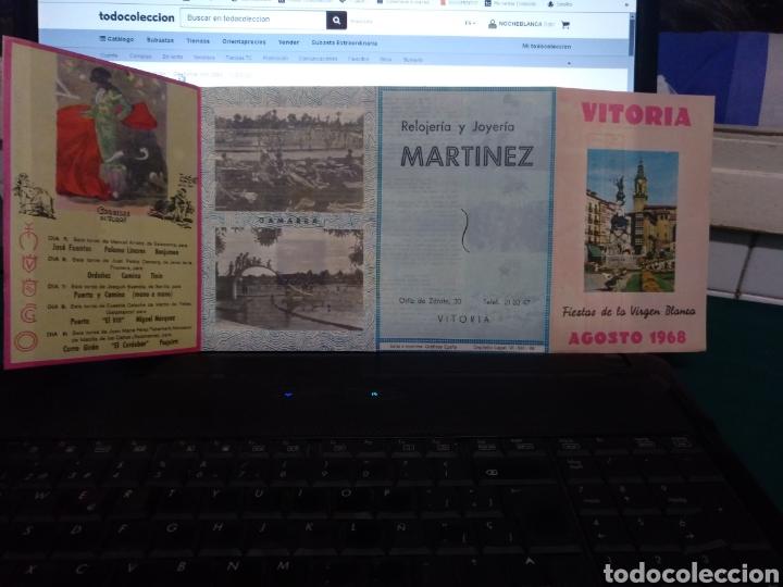 PROGRAMA DE FIESTAS VITORIA 1968 (Coleccionismo - Laminas, Programas y Otros Documentos)