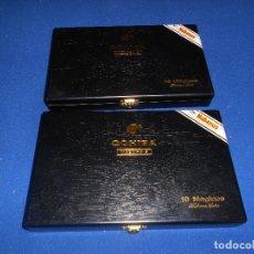Coleccionismo: 2 CAJA VACIA DE MADERA DE PUROS MARCA COHIBA MADURO 5 10 MAGICOS HABANA , CUBA. Lote 182796702