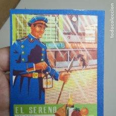 Coleccionismo: TARJETA POSTAL FELICITACIÓN DE NAVIDAD EL SERENO. EDICIONES MORAGÓN. VALENCIA. AÑOS 50.-- REF-ZZ. Lote 183195806