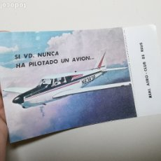 Coleccionismo: REAL AERO CLUB REUS-1966, VALE PARA PILOTAR AVION DIPTICO PUBLICITARIO - REF-ZZ. Lote 183198213