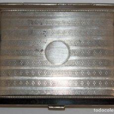 Coleccionismo: PITILLERA EN METAL PLATEADO. ÉPOCA ART-DECO. Lote 183370982