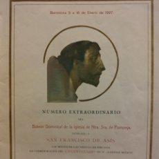 Coleccionismo: BOLETÍN DOMINICAL DE LA IGLESIA DE NTRA. SRA. DE POMPEYA. DEDICADO A SAN FRANCISCO DE ASIS. 01-1927. Lote 183814940