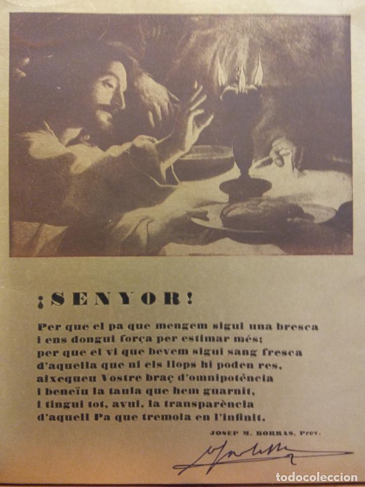 Coleccionismo: TARJETA PRIMERA MISA DEL SACERDOT JOAQUIM FONT I GASSOL. IGUALADA 25 MAIG 1949 - Foto 2 - 183817856