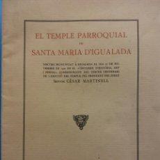 Coleccionismo: DISCURS PRONUNCIAT A IGUALADA 27 DE NOVEMBRE DE 1927, CERTAMEN DE HISTORIA. IGUALADA 1929. Lote 183818346
